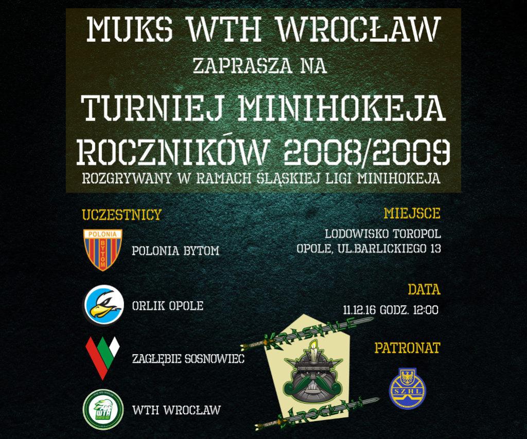 Turniej minihokeja – Opole 11.12.16