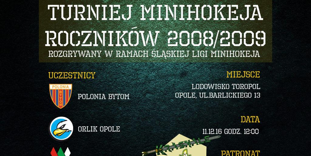 Minihokej – turniej w Opolu 11.12.16